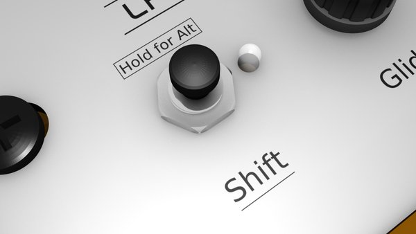 Control panel shift button